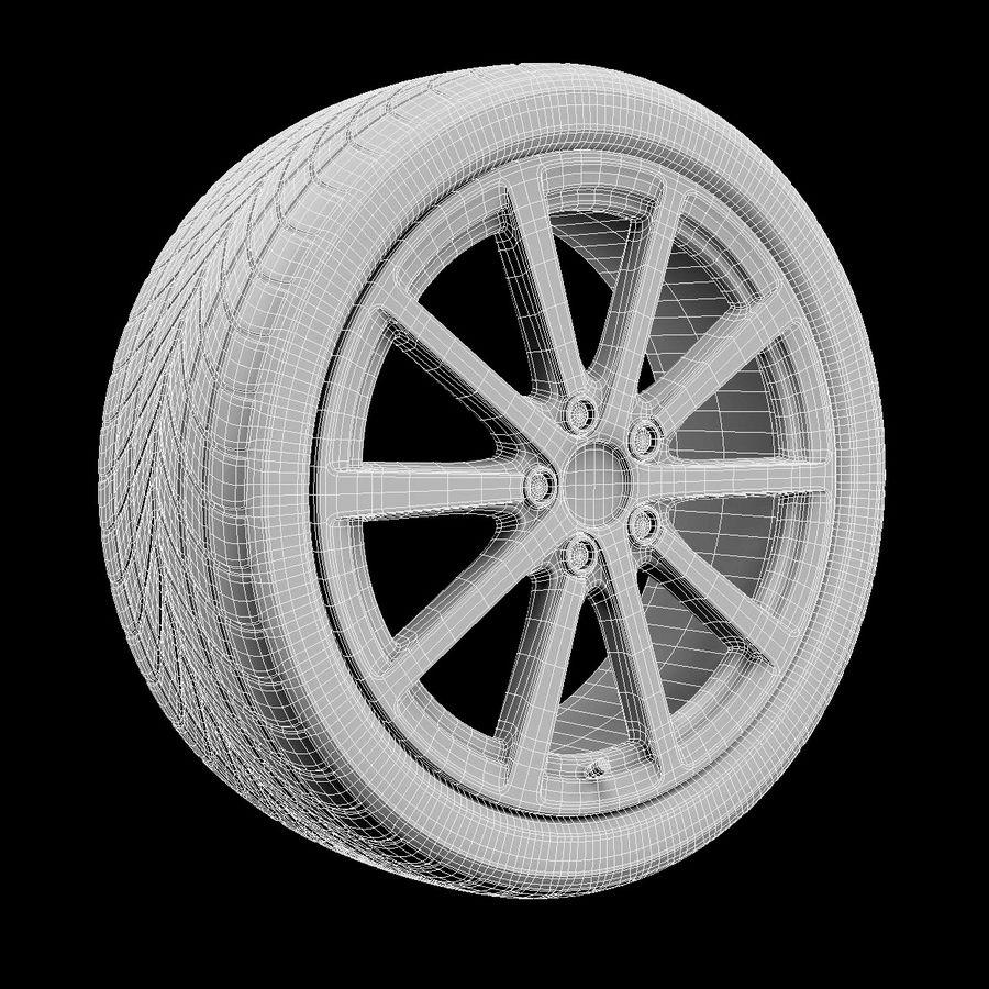 Car Wheel royalty-free 3d model - Preview no. 5