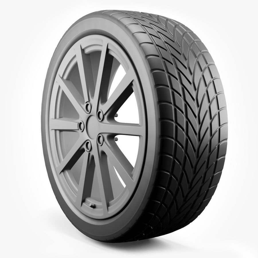 Car Wheel royalty-free 3d model - Preview no. 2
