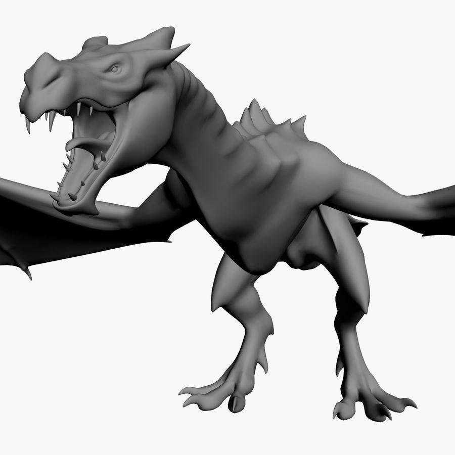 Dragon royalty-free 3d model - Preview no. 9