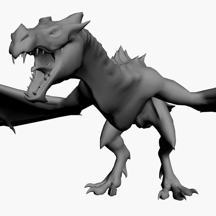 Dragon royalty-free 3d model - Preview no. 8