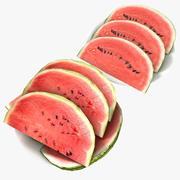 Melão Fruta Cutted Peça Mesa Cozinha Sala De Jantar Detalhe Restaurante visualização viz arquitetura cantina refeitório cerimônia de casamento celebração melancia 3d model