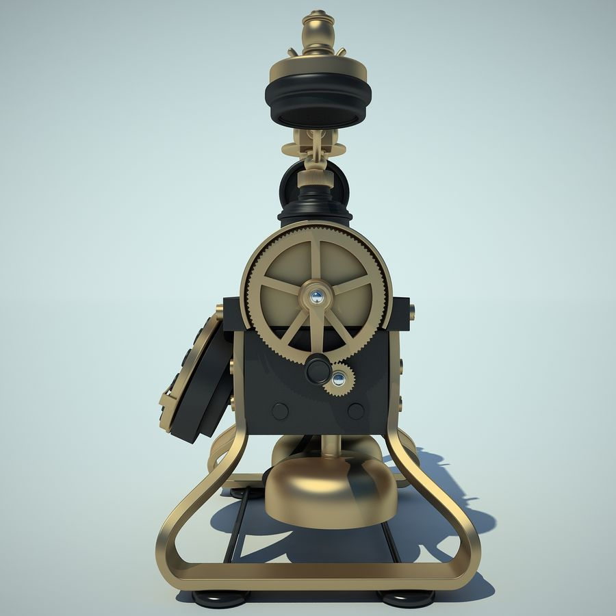 Retro Phone 01 royalty-free 3d model - Preview no. 6