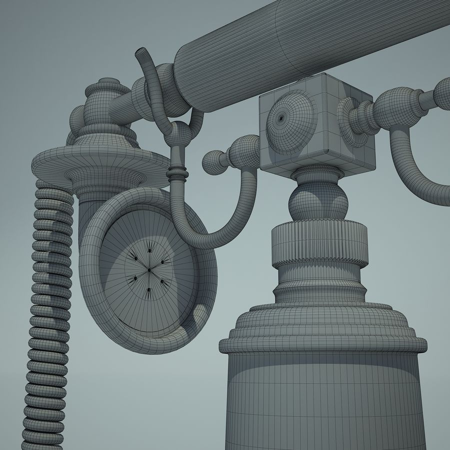 Retro Phone 01 royalty-free 3d model - Preview no. 10