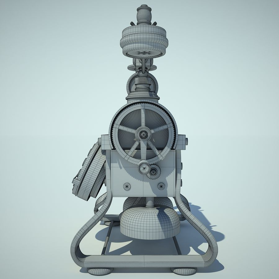 Retro Phone 01 royalty-free 3d model - Preview no. 7