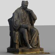 Posąg siedzący 3d model