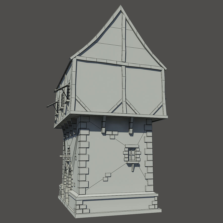 Mittelalterliches Haus royalty-free 3d model - Preview no. 9