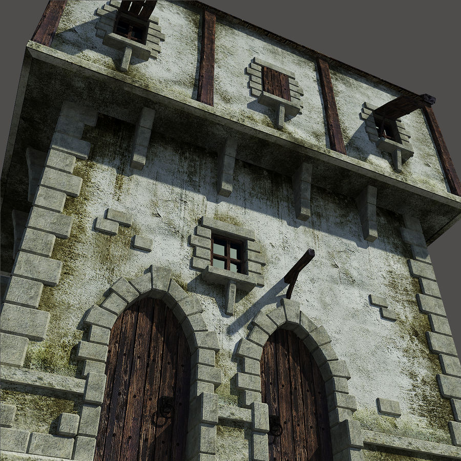 Mittelalterliches Haus royalty-free 3d model - Preview no. 10
