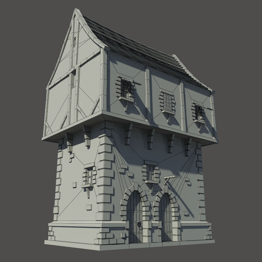 Mittelalterliches Haus royalty-free 3d model - Preview no. 3