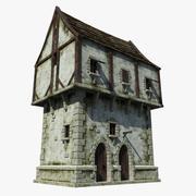 中世纪的房子 3d model