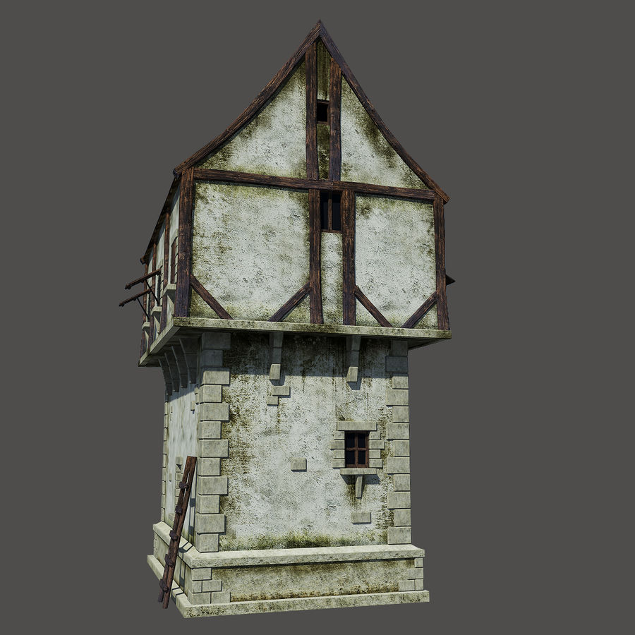 Mittelalterliches Haus royalty-free 3d model - Preview no. 4