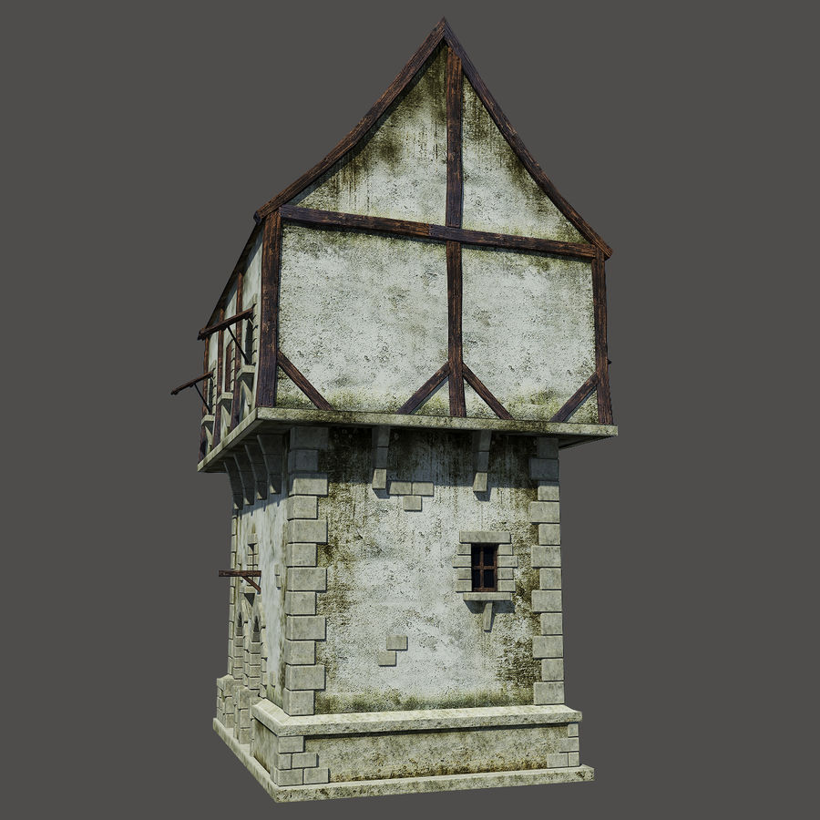 Mittelalterliches Haus royalty-free 3d model - Preview no. 8