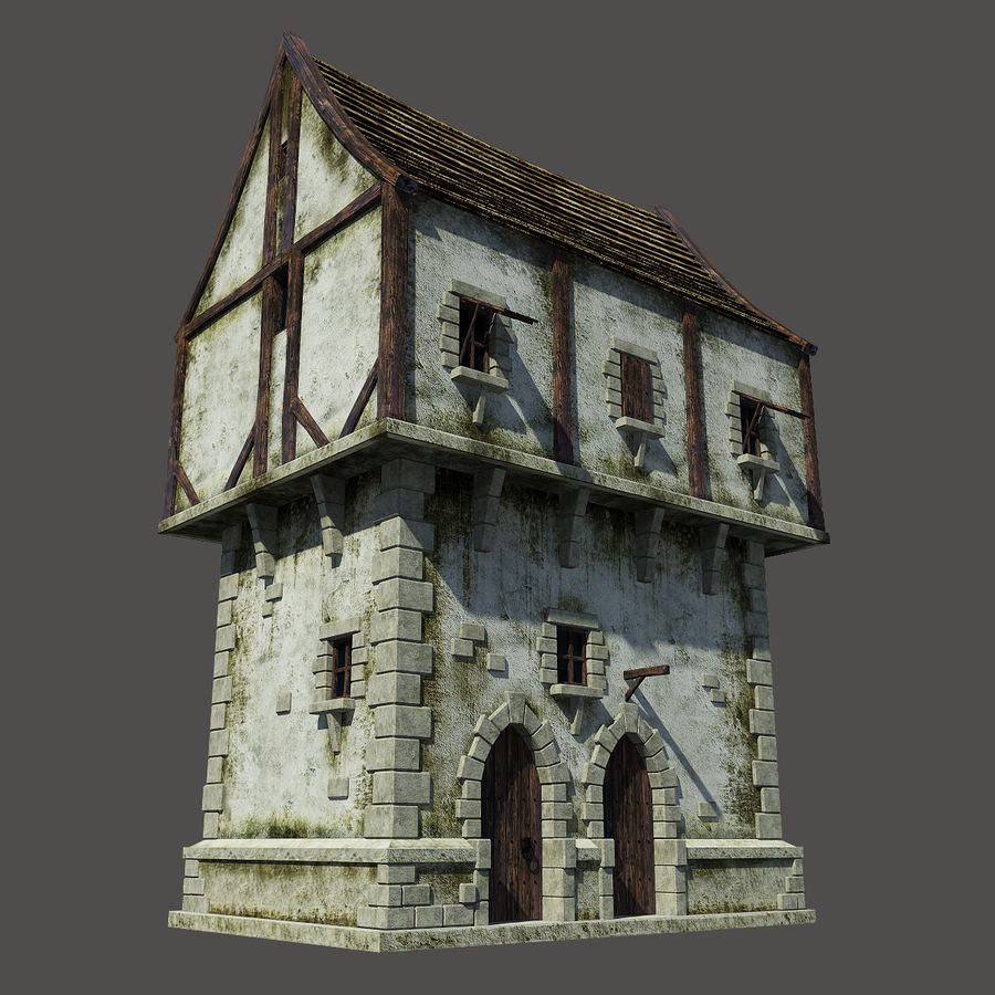 Mittelalterliches Haus royalty-free 3d model - Preview no. 2