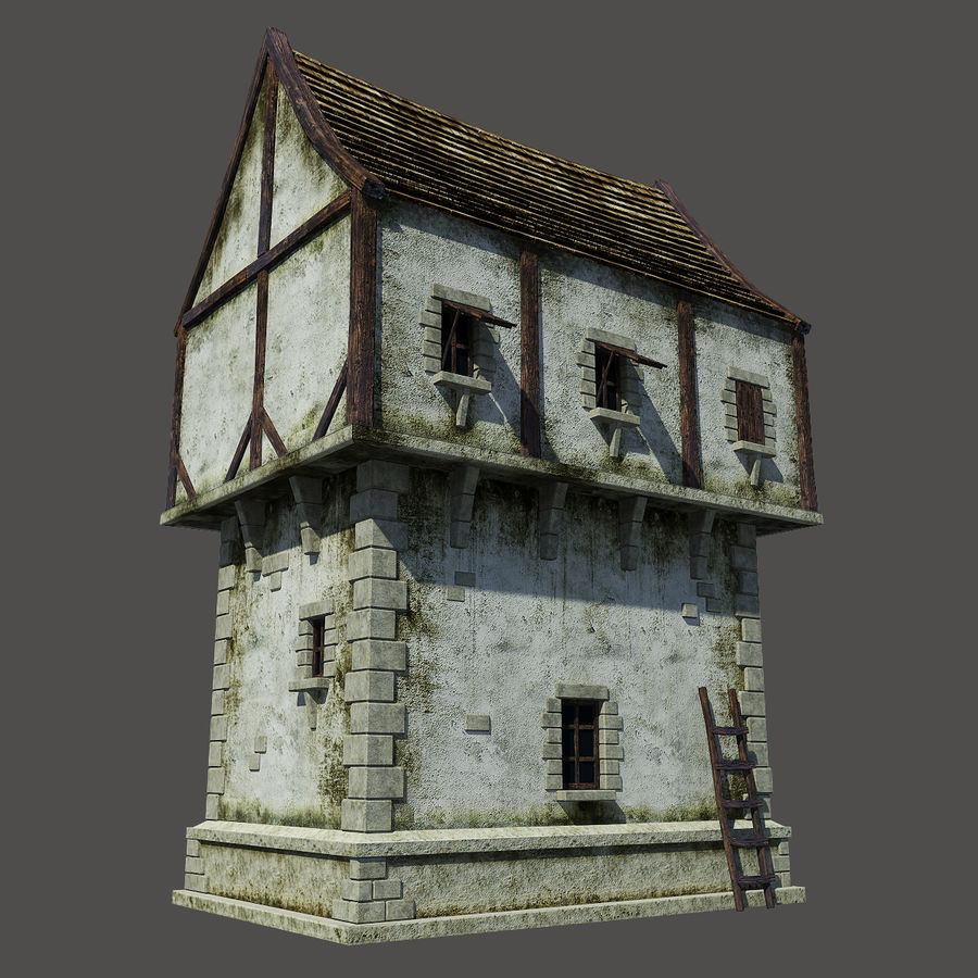 Mittelalterliches Haus royalty-free 3d model - Preview no. 6