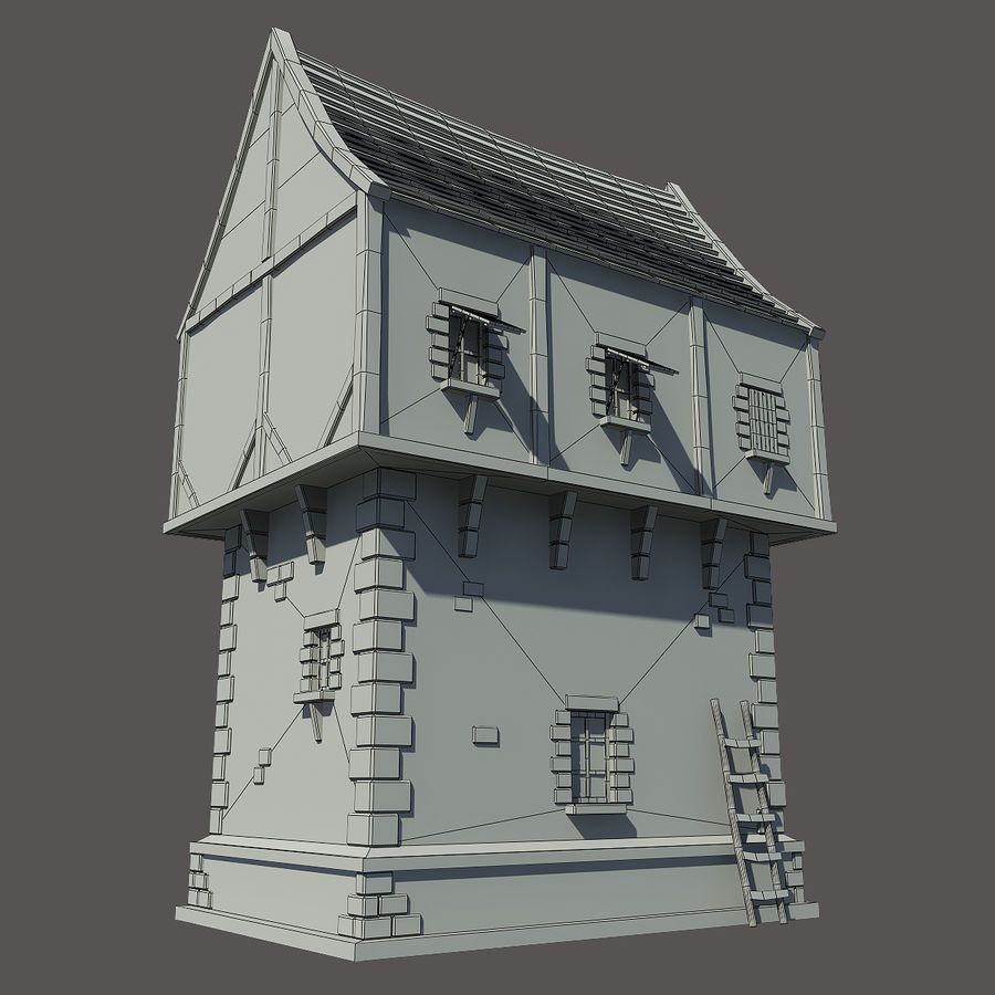 Mittelalterliches Haus royalty-free 3d model - Preview no. 7