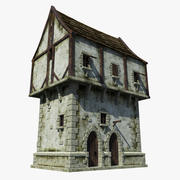 Maison médiévale 3d model