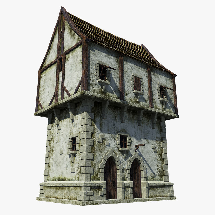 Mittelalterliches Haus royalty-free 3d model - Preview no. 1