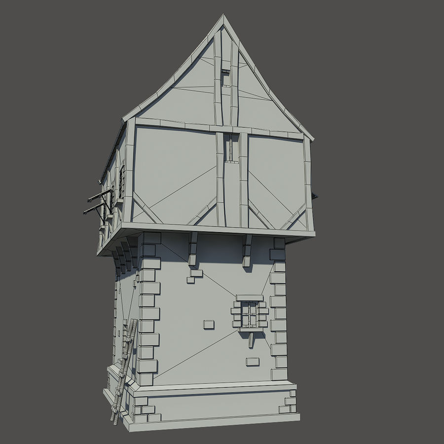 Mittelalterliches Haus royalty-free 3d model - Preview no. 5