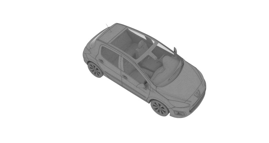 Peugeot 308 royalty-free 3d model - Preview no. 6