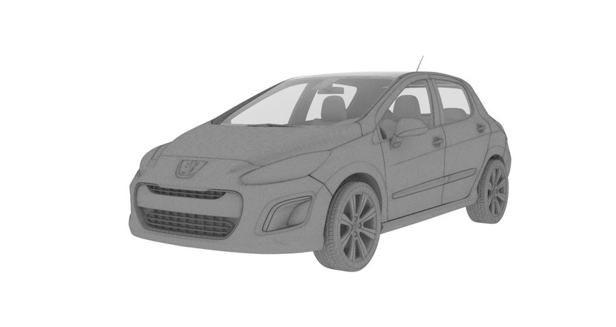 Peugeot 308 royalty-free 3d model - Preview no. 3