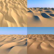 Desert dunes 3d model 3d model