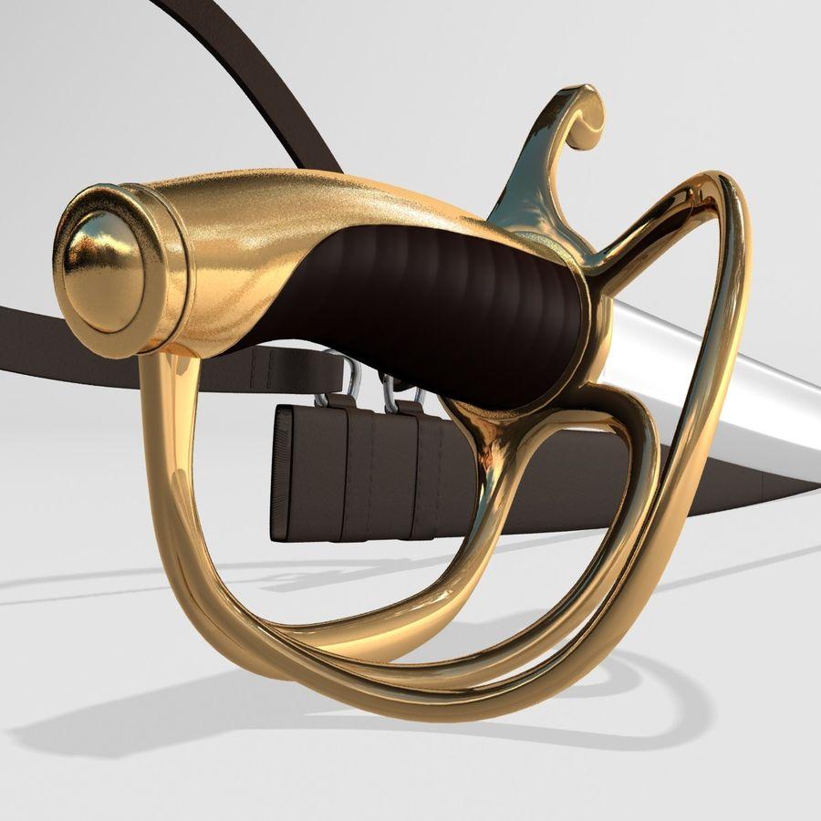 Saber royalty-free 3d model - Preview no. 4