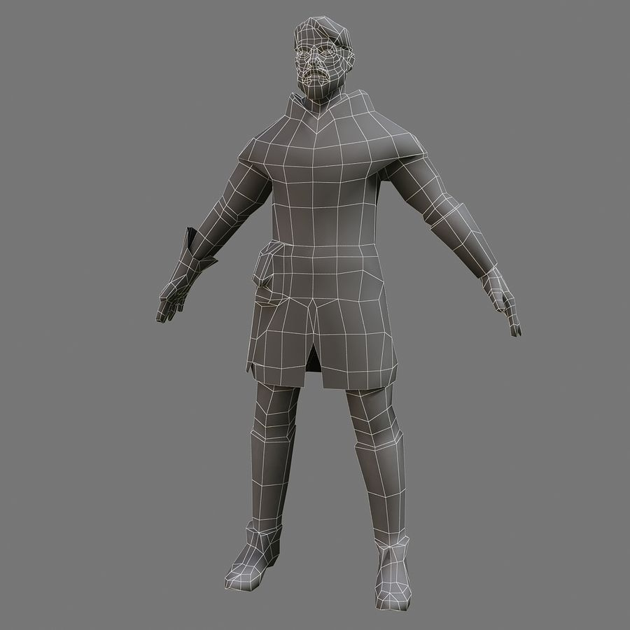Homem bandido royalty-free 3d model - Preview no. 5