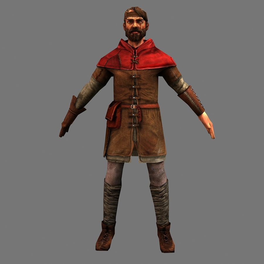 Haydut adam royalty-free 3d model - Preview no. 2