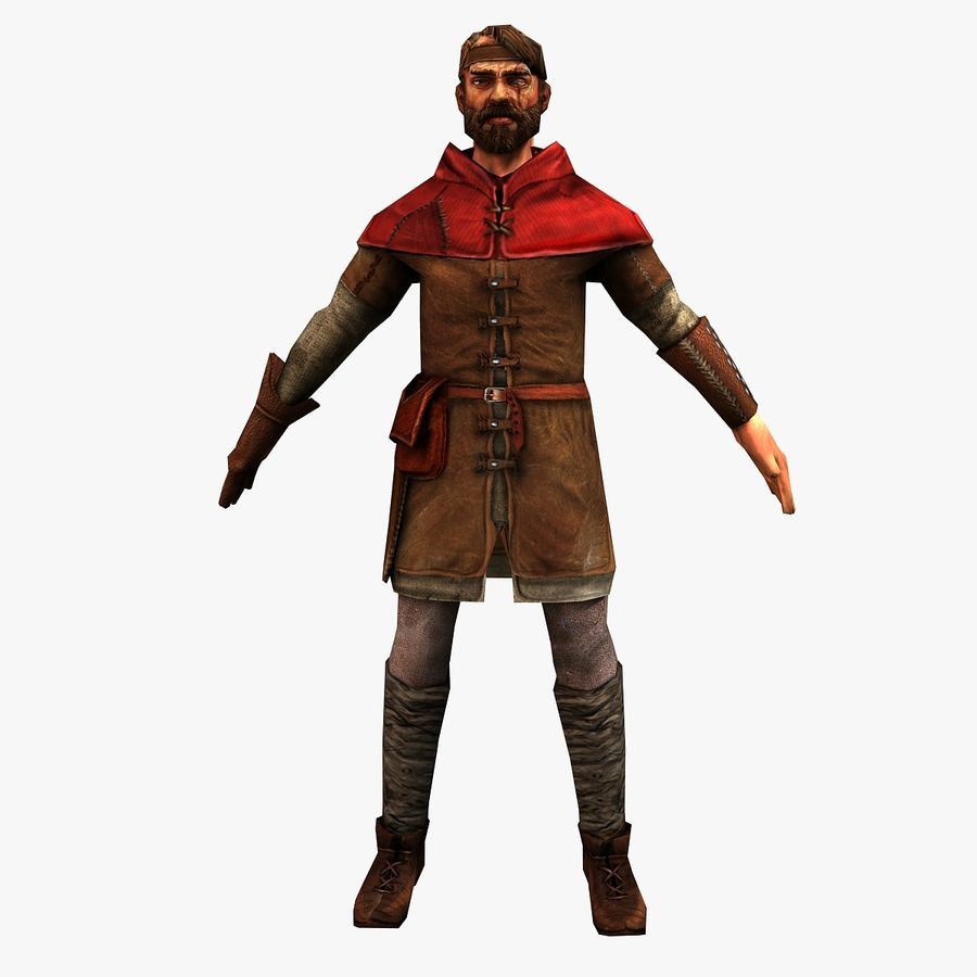 Haydut adam royalty-free 3d model - Preview no. 1