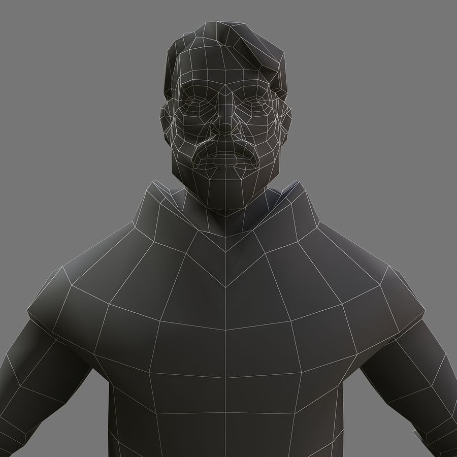 Homem bandido royalty-free 3d model - Preview no. 7