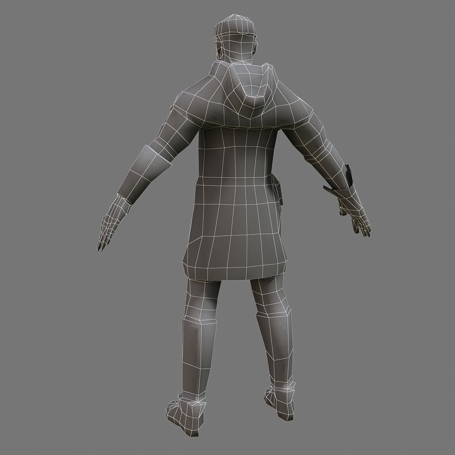 Homem bandido royalty-free 3d model - Preview no. 6