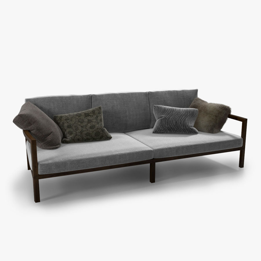 Modern italian sofa royalty free 3d model preview no 1