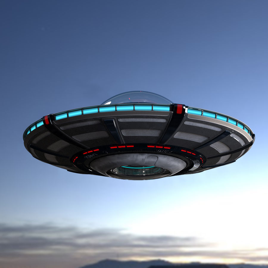 UFO royalty-free 3d model - Preview no. 12