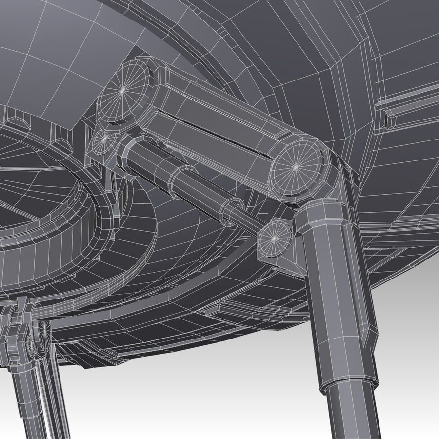 UFO royalty-free 3d model - Preview no. 18