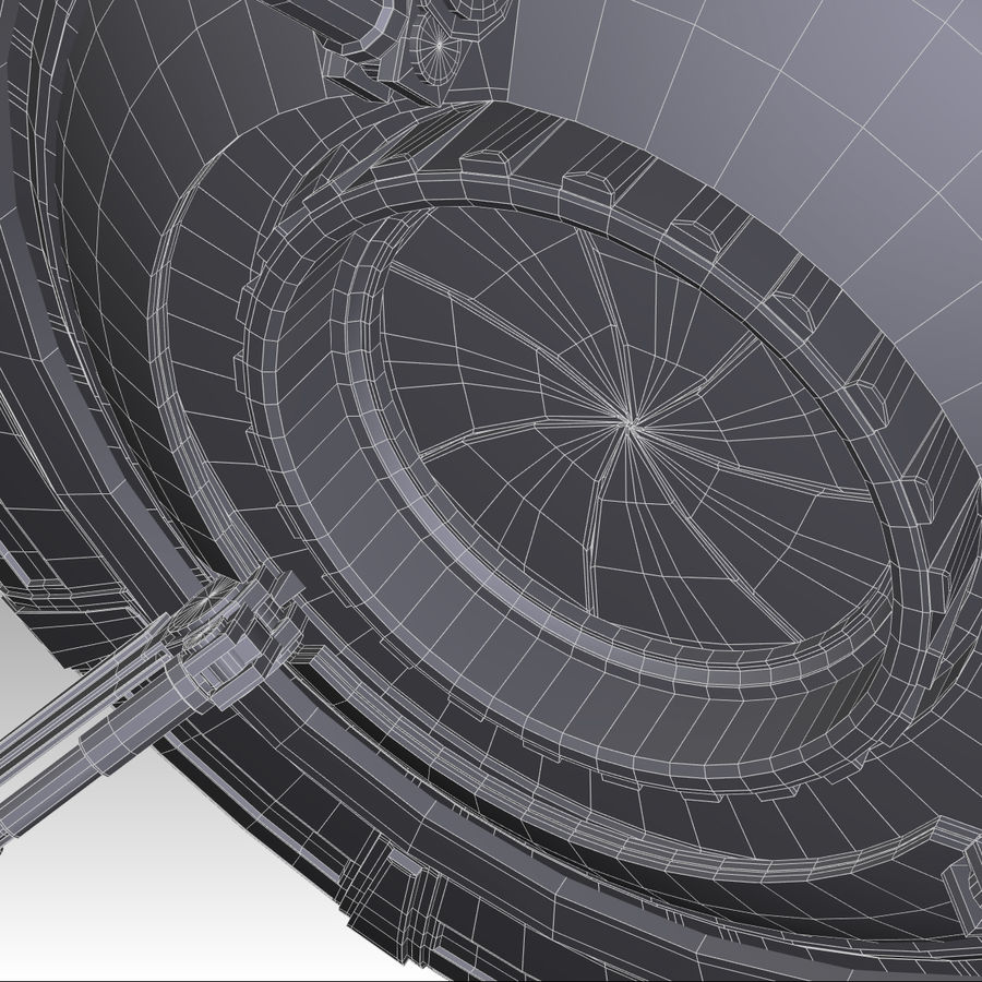 UFO royalty-free 3d model - Preview no. 19