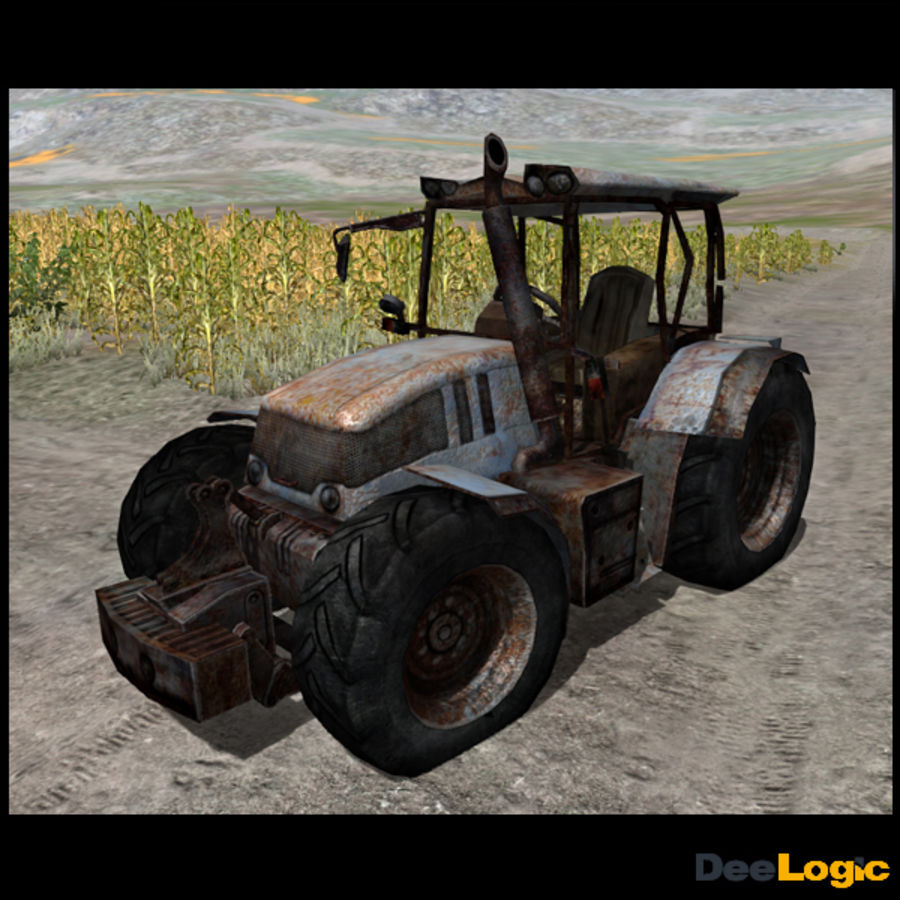 Rusty tractor royalty-free 3d model - Preview no. 5