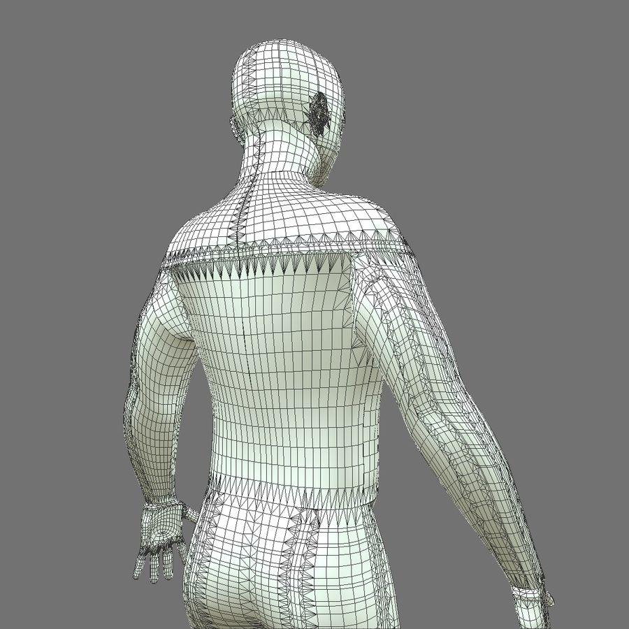 Męskie ciało i płuca royalty-free 3d model - Preview no. 23