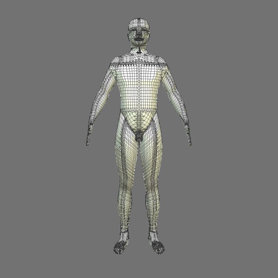 Męskie ciało i płuca royalty-free 3d model - Preview no. 20