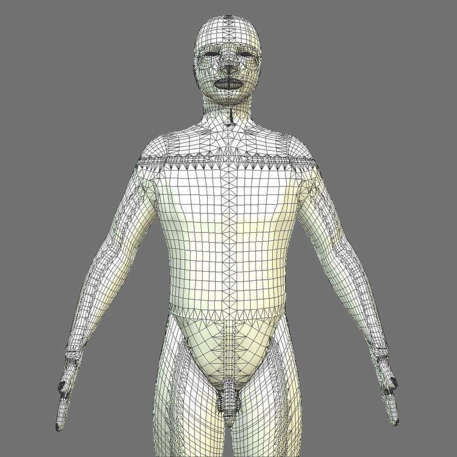 Męskie ciało i płuca royalty-free 3d model - Preview no. 22