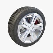 Bridgestone Potenza 5 Spokes V03 3d model