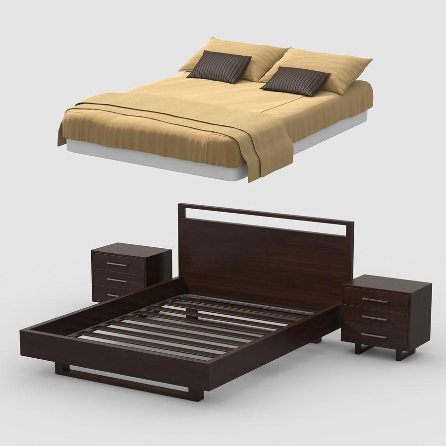 Wood Bed Walnut 3d Model 29 Max Fbx 3ds Free3d