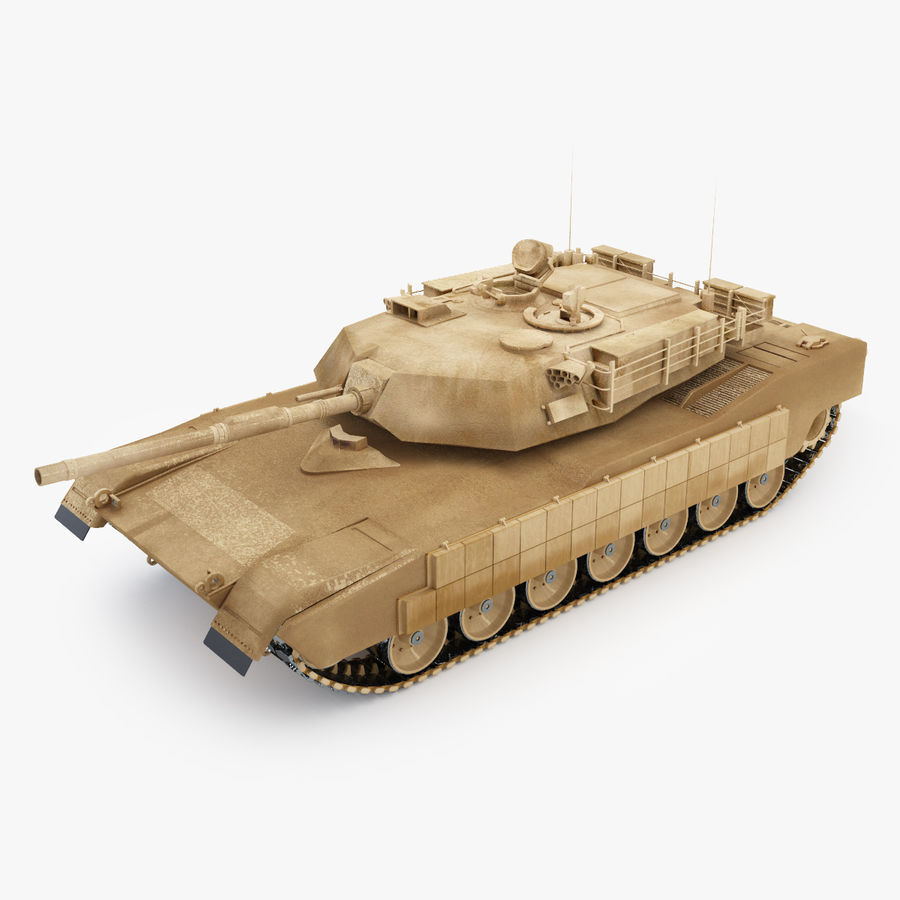 Tank Abrams Low-Poly royalty-free 3d model - Preview no. 3