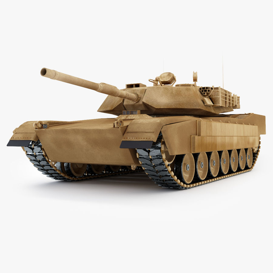 Tank Abrams Low-Poly royalty-free 3d model - Preview no. 1