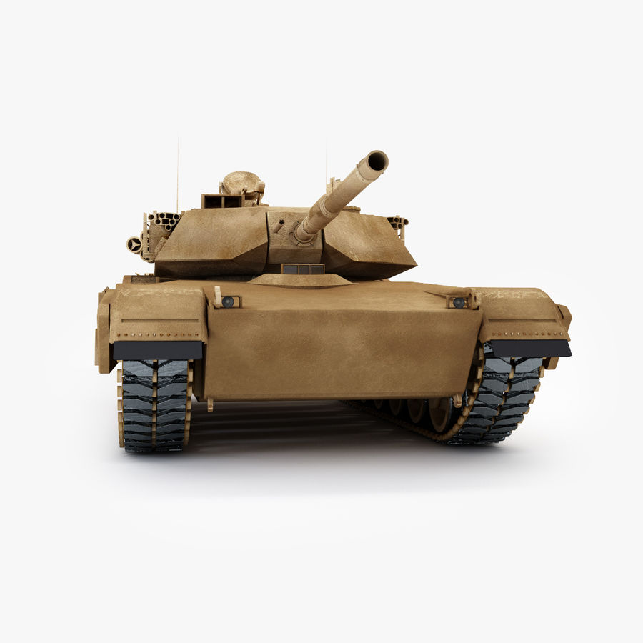 Tank Abrams Low-Poly royalty-free 3d model - Preview no. 5
