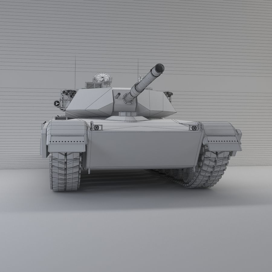 Tank Abrams Low-Poly royalty-free 3d model - Preview no. 7