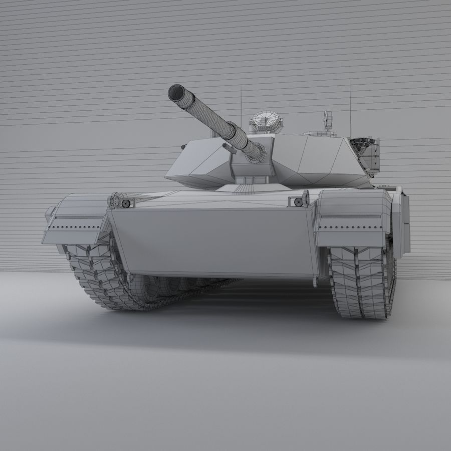 Tank Abrams Low-Poly royalty-free 3d model - Preview no. 8