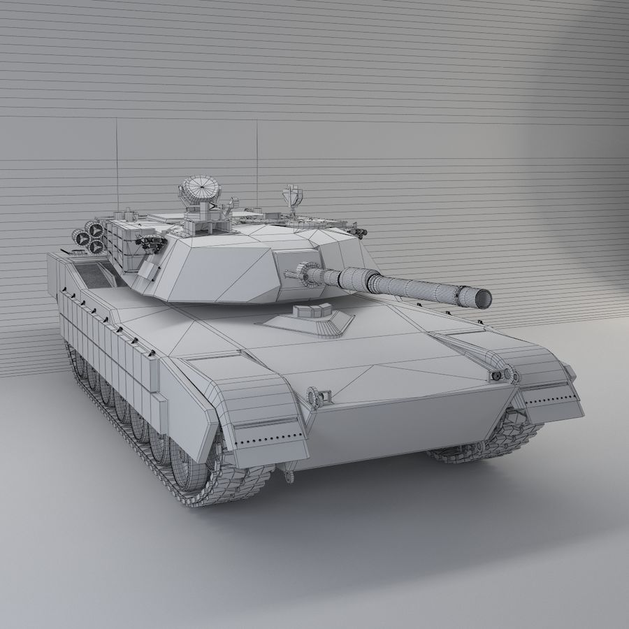 Tank Abrams Low-Poly royalty-free 3d model - Preview no. 10