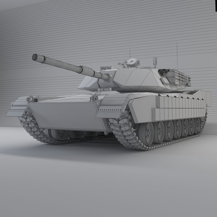 Tank Abrams Low-Poly royalty-free 3d model - Preview no. 9