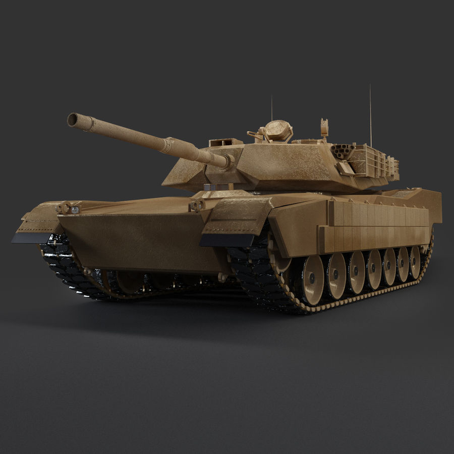 Tank Abrams Low-Poly royalty-free 3d model - Preview no. 2