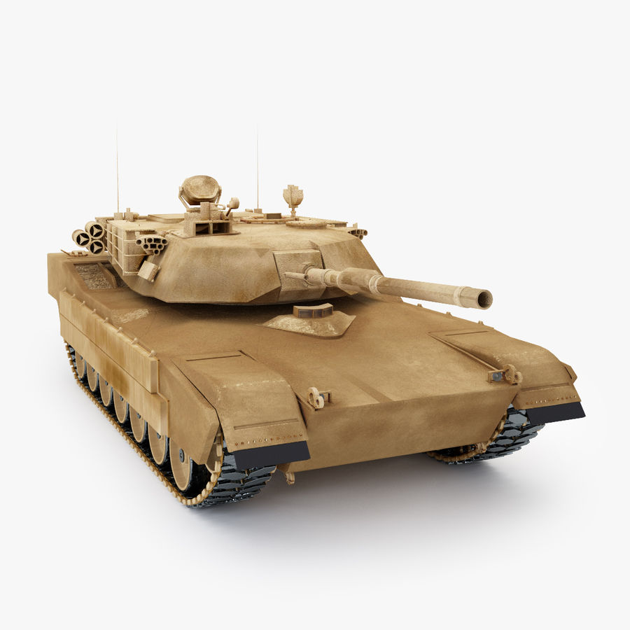 Tank Abrams Low-Poly royalty-free 3d model - Preview no. 4