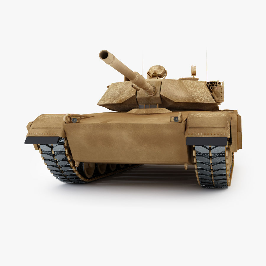 Tank Abrams Low-Poly royalty-free 3d model - Preview no. 6